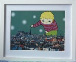 Playing in Edinburgh illustration by Himalayan Princess